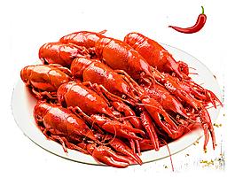 海鲜小龙虾美食元素