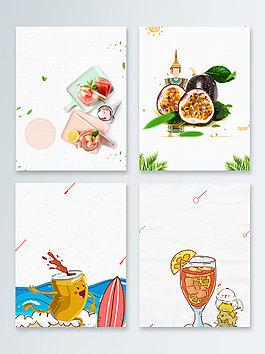 果汁綠色健康天然飲品廣告背景