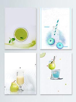 果汁夏日冰饮饮品广告背景图