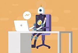 機器人電腦ai矢量素材下載