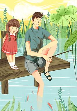 父親釣魚父情節背景設計