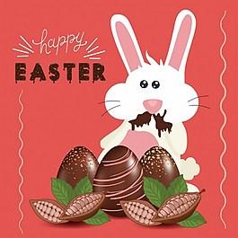復活節兔子ai矢量素材下載