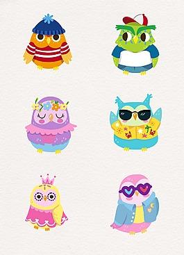 花紋彩色鳥兒設計