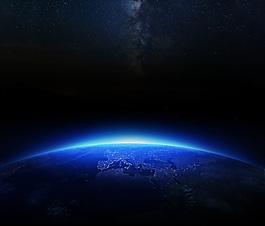 蓝色宇宙会议背景