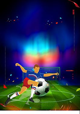 動漫世界杯海報背景