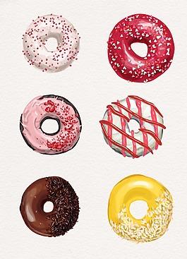 彩色卡通甜甜圈設計