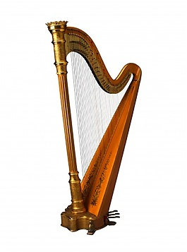豎琴單一較小的弦音效素材