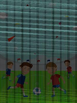 儿童足球卡通背景