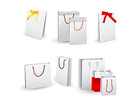 矢量節能環保購物紙袋