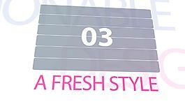 流行時尚風格的內容拼接展示片頭AE工程
