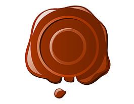 矢量花纹巧克力元素