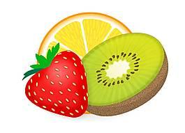 新鮮美味的水果切片元素