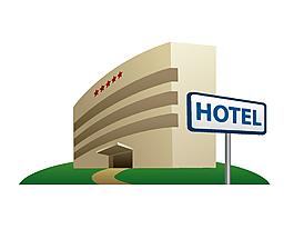卡通小清新酒店元素