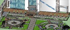 空地规划主要由圆的形状进行划分区域