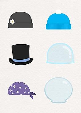 帽子彩色卡通設計