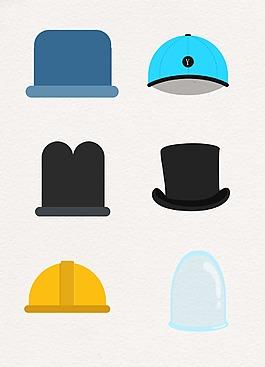 彩色簡約卡通帽子設計