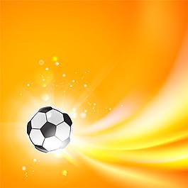 橙色光足球素材