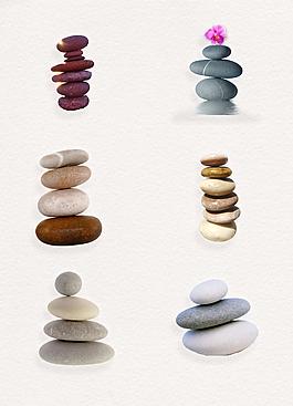 疊起來的鵝卵石png設計素材