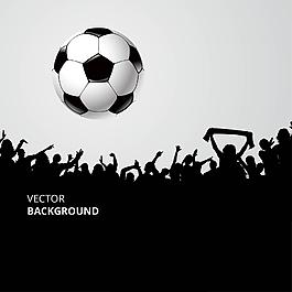 球迷歡呼世界杯足球元素
