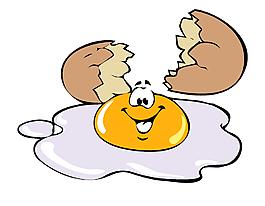 卡通手绘碎鸡蛋笑脸矢量元素