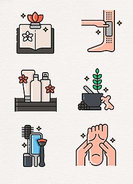 日常生活洗浴設計圖案