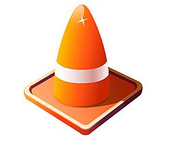矢量橙色圓錐形裝飾