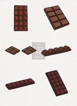 巧克力甜食矢量素材