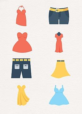 彩色卡通簡約服裝設計