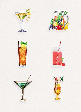 清凉果汁夏日饮品免扣素材
