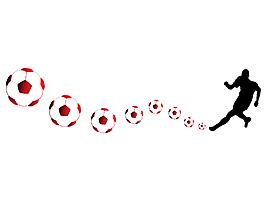 矢量足球運動元素