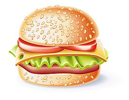 矢量漢堡元素