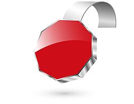 矢量紅色不規則標簽元素