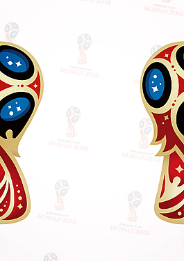 手繪卡通俄羅斯世界杯背景