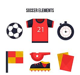 卡通體育足球運動元素