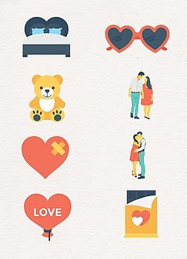 可爱爱心图案设计