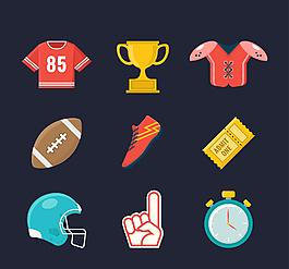 扁平足球体育运动元素