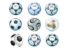 時尚創意足球矢量圖