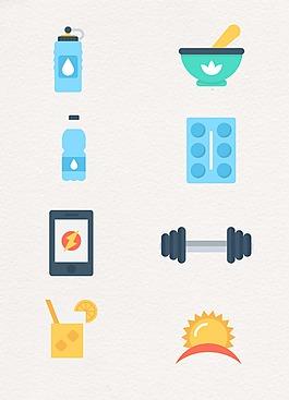 健身生活设计图案