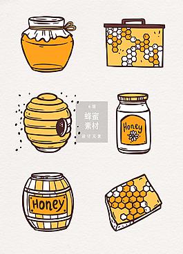 蜂蜜矢量圖案素材