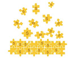手绘黄色几何图形元素