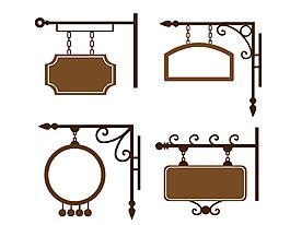 金属悬挂装饰矢量图