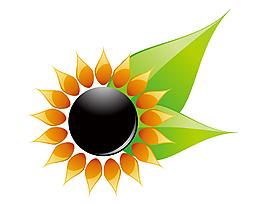 扁平化手繪創意太陽