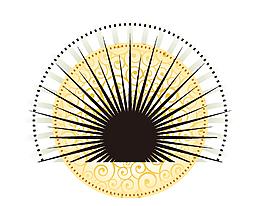 中國風手繪扇子矢量圖