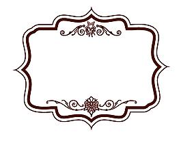 手繪花紋不規則邊框元素