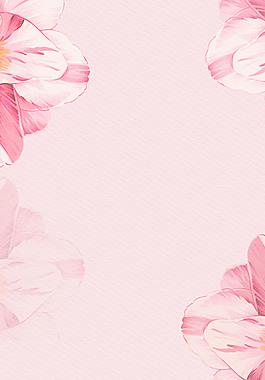 文藝粉色花卉海報背景