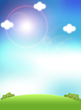 清爽蓝天白云展板背景