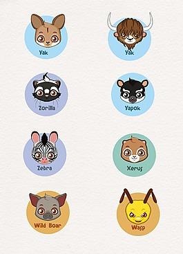 大眼睛可爱动物设计