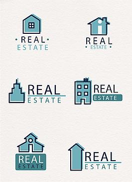 可愛幾何房地產別墅logo圖標
