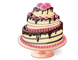 矢量彩色蛋糕元素