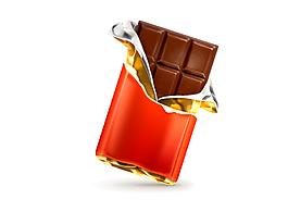 矢量黑色巧克力元素